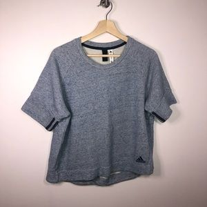 Adidas Light Blue Cropped Top